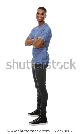 widok · z · boku · elegancki · młodych · Afryki · człowiek - zdjęcia stock © stockyimages