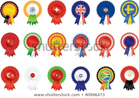 India rosette flag Stock photo © milsiart