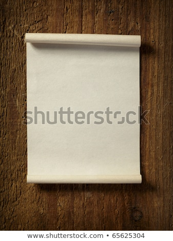 Ripped notepaper on wooden background Stock photo © happydancing