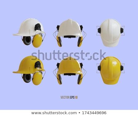 Fül férfi boldog építkezés kék munkás Stock fotó © photography33