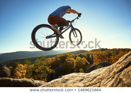 sportsman is training on top of hill stock photo © vetdoctor