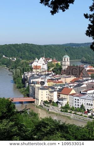 kleine · stad · Duitsland · hemel · huis · hout - stockfoto © haraldmuc