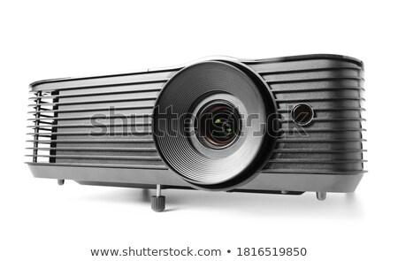 Video projektör yalıtılmış beyaz bilgisayar ışık Stok fotoğraf © shutswis