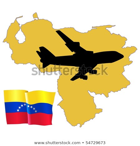 Légy engem Venezuela térkép repülőgép vidék Stock fotó © perysty