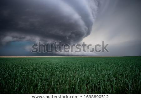 Clouds over Nebraska farm Stock photo © benkrut