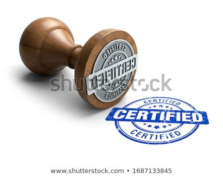 3D carimbo certificado carta imprimir nota Foto stock © dacasdo