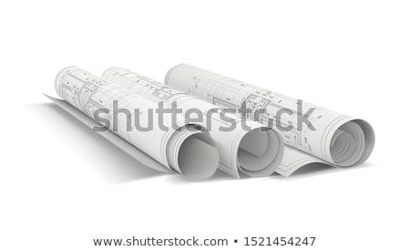 ヴィンテージ 家 建築の 計画 ベクトル ポスター ストックフォト © krabata