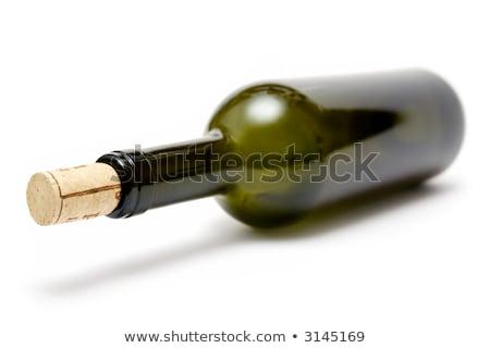 Garrafa de vinho vazio isolado branco festa vidro Foto stock © winterling