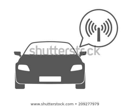 Vetor ícone carro antena criança Foto stock © zzve