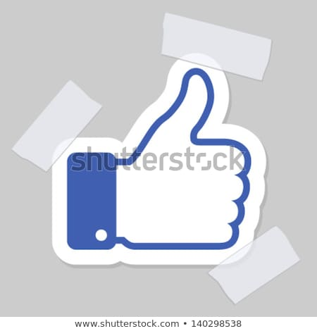 Resumen como mano botón Internet azul Foto stock © rioillustrator