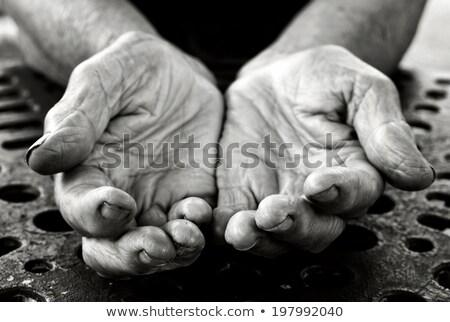 öreg kezek nyitva enyém anya évek Stock fotó © fenton