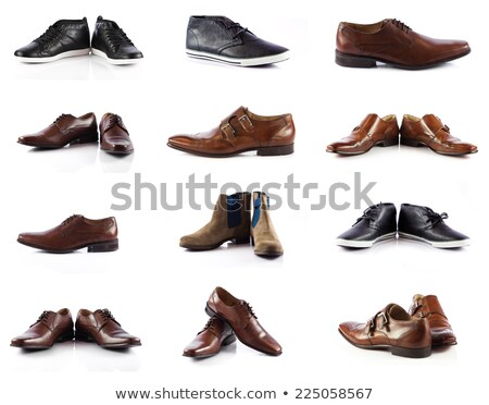 Brown male loafer over white Stock photo © photobac