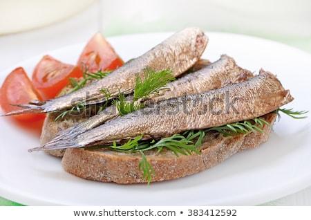 sprat on plate Stock photo © jirkaejc