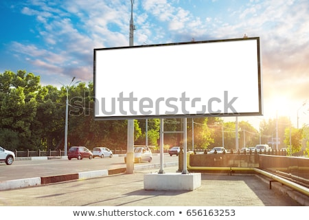 billboard · schoonheid · prachtig · jonge · brunette · vrouw - stockfoto © lithian