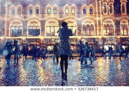 Winter in the city with a lot of beautiful snow Stock photo © tannjuska