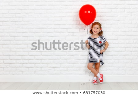 ребенка · красный · фон · портрет · студию · человек - Сток-фото © nikkos