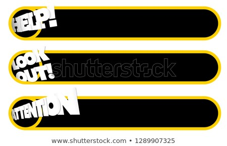 white page layout with place for your text yellow backdrop stock photo © alevtina