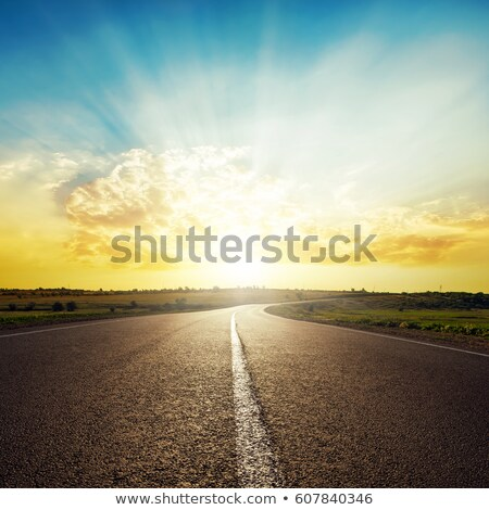 sunset over the road Stock photo © FOKA