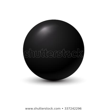 black sphere on white background stock photo © jezper