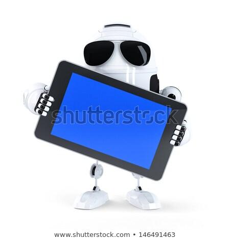Androide robot Screen móviles dispositivo Foto stock © Kirill_M