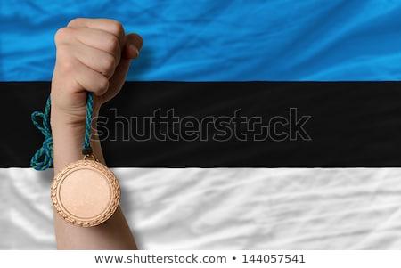 青銅 金メダル スポーツ フラグ エストニア ストックフォト © vepar5
