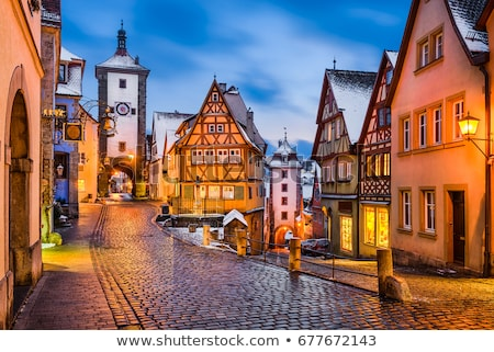 panorama of rothenburg ob der tauber stock photo © meinzahn