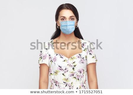 Vrouw Oost jurk geïsoleerd witte meisje Stockfoto © Elnur