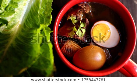 egg and pork in sweet brown sauce stock photo © smuay