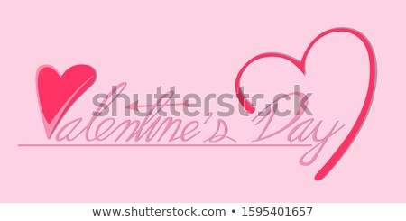Beautiful I love You valentine's day text design background vect Stock photo © bharat