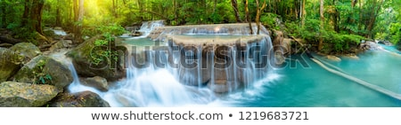 Stock photo: Woodland Waterfall in the Spring