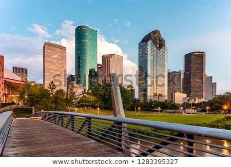 bridge of an industry park in beautiful landscape stock photo © meinzahn