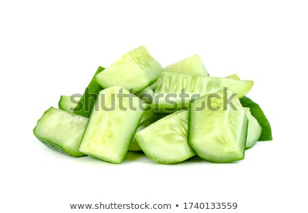 Komkommer plantaardige geïsoleerd witte Stockfoto © natika