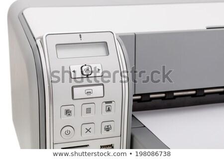 Szkenner közelkép lövés üzlet izolált Stock fotó © shutswis