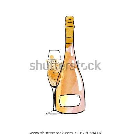 Background With Colorful Bottles Sketched Stock photo © shawlinmohd