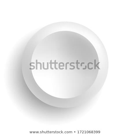 Biały kółko przycisk wektora świetle projektu Zdjęcia stock © gubh83