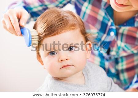 Saç kız sevmek çocuk Stok fotoğraf © runzelkorn
