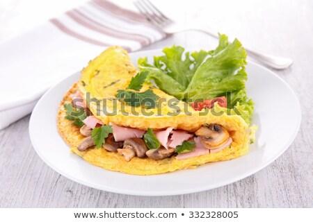 ストックフォト: キノコ · ハム · 野菜 · ダイニング · クローズアップ · 栄養