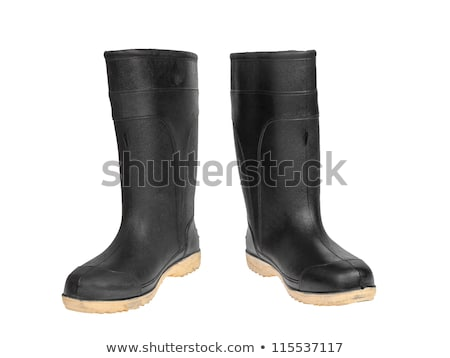 rubber boot black color stock photo © frameangel
