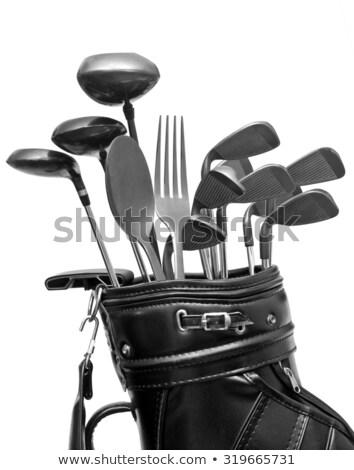 Golf swing combinazione passi uomo Foto d'archivio © vanessavr