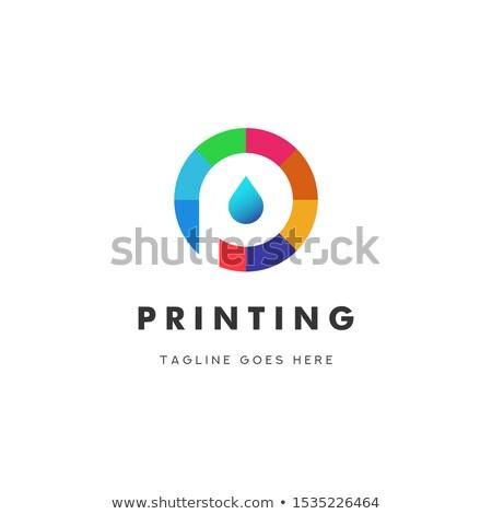 digital print logo stock photo © viva
