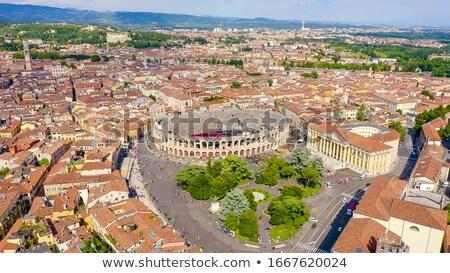 Panoramik görmek verona merkezi şehir binalar Stok fotoğraf © marco_rubino