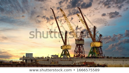Cranes in a harbour Stock photo © remik44992