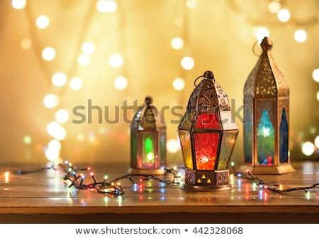 Illuminated lamp on Eid Mubarak (Happy Eid) Stock photo © vectomart