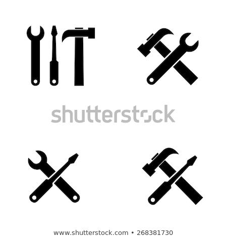Martello cacciavite costruzione pennello studio pennello Foto d'archivio © Dserra1
