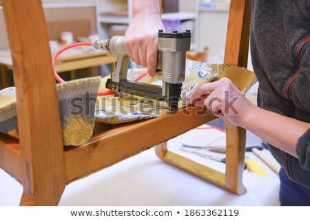 Old brown stapler Stock photo © michaklootwijk