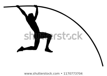 Atléta pólus útvonal mező férfi háttér Stock fotó © leonido
