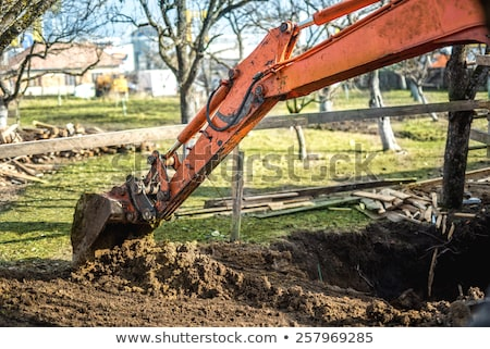 Heavy duty excavator doing earth moving Stock photo © juniart