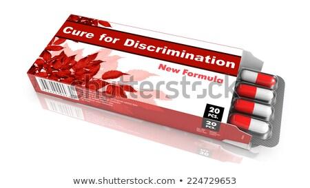 kor · diszkrimináció · illusztráció · út · közlekedési · tábla · kék · ég - stock fotó © tashatuvango