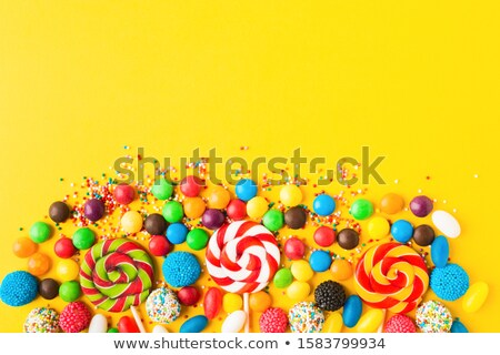 Candy Lollipop over different color backgrounds stock photo © BibiDesign