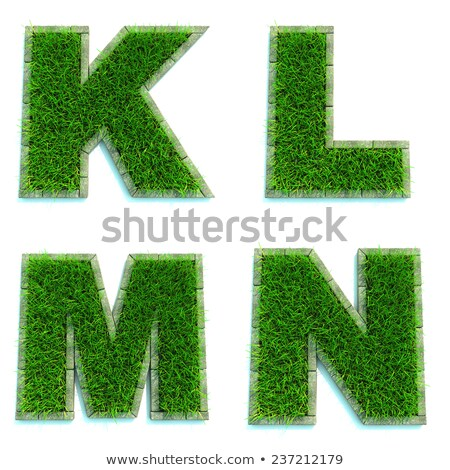 Letters K, L, M, N  as Lawn - Set of 3d. Stock photo © tashatuvango